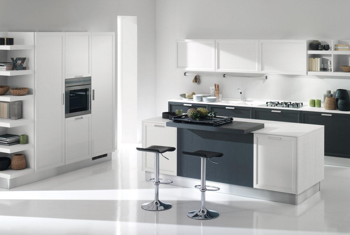 Cucina moderna rovere grigio top piastrelle per cucina rovere