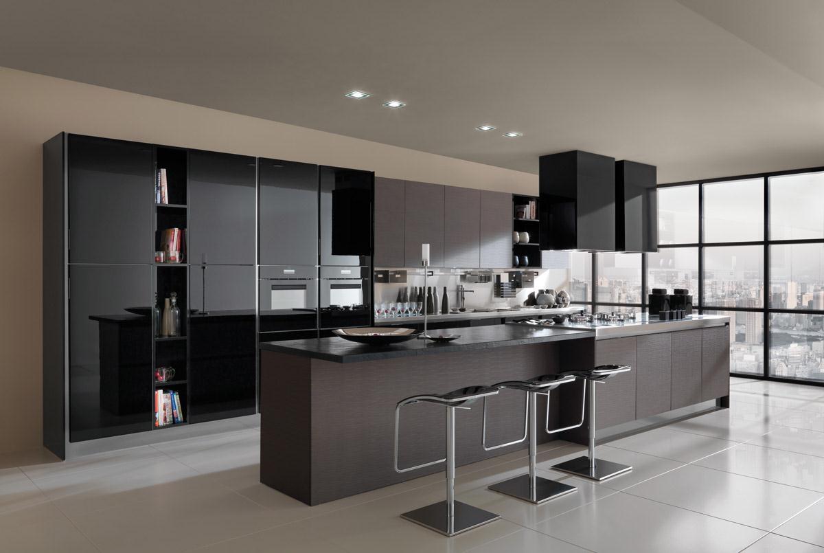 Cucine Laccate Bianco E Nero ~ Ispirazione Interior Design & Idee Mobili