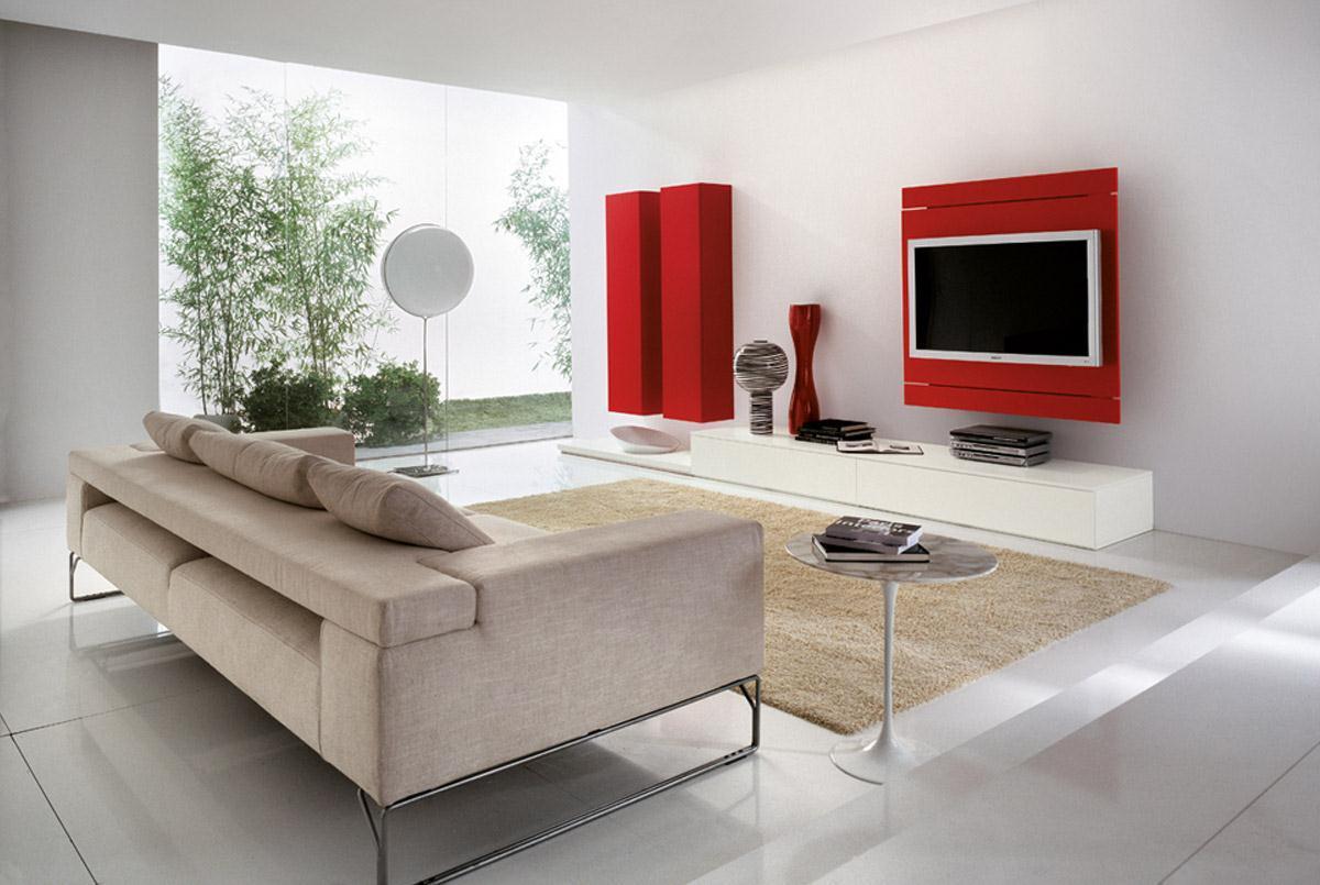 Beautiful Parete Rossa Soggiorno Pictures - Idee Arredamento Casa ...
