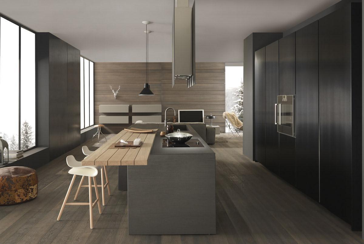 Cucine Moderne Con Camino  madgeweb.com idee di interior design